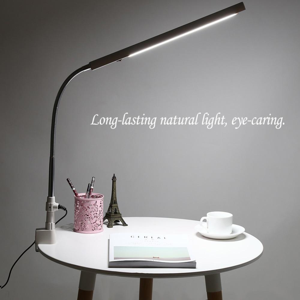 Ultra Slim LED Desk Lamp Eyebrow Tattoo Nail Art Makeup Lamp 360Degree Rotation Eye Caring Office