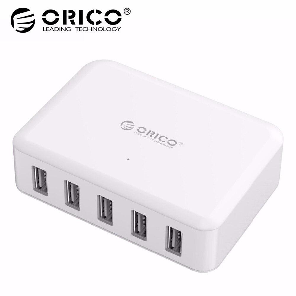 ORICO 5 puertos USB cargador ABS 5 V 8A 40 W PhoneTablet adaptador para iPhone 5x5 5 6 6 7 samsung Galaxy s7 Xiao mi Huawei 5 HTC 10 cargador de teléfono
