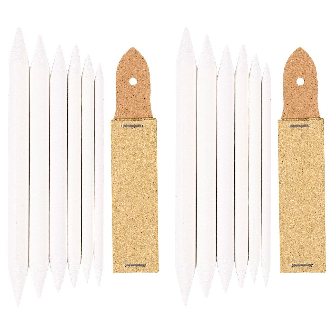 цена Blending Stump, and Sharpener 12 Piece Blending Stumps and Tortillions, and 2 Sandpaper Sharpeners, Blends and Sharpens,