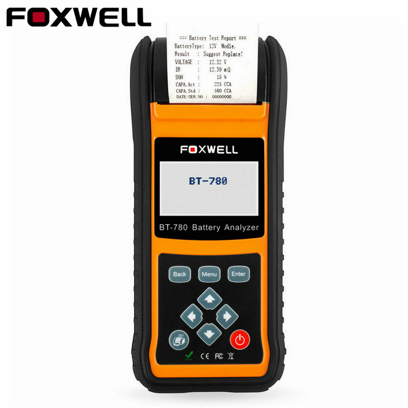 Foxwell BT780 автомобильный 12 В 24 В тестер батареи Встроенный принтер BT 780 авто анализатор батареи AGM гель EFB батареи анализатор-in Тестеры аккумуляторов from Автомобили и мотоциклы on