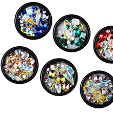 6 Styles Nail Art Decoration Mixes Metal Drop Of Water Rhinestone Micro-beads Stud Jewelry Accessories Manicure Tool LRK