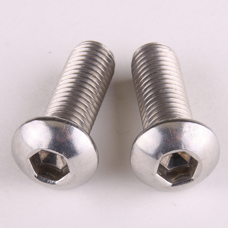 25PCS Button Head Socket Cap Screw 304 Stainless Steel Round/Pan Head Screws M5 * 8mm 304 stainless steel pan head screws round head screws hexagonal bolts mushrooms m5 8mm