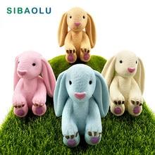 Super Big Ear Coelho Sentado em miniatura figuras enfeites de decoração de Casa de mini figuras de animais do jardim de fadas brinquedo de plástico bebê
