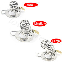 316L Stainless Steel Chastity Cock Cage Penis Ring Adult Game Chastity Device Penis Sleeve Gay Ball Stretcher Sex Toys For Men