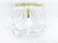 2 Pcs Haian ABDL Pull On Locking Plastic Pants Color Glass Clear P016 9