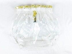 2 قطعة * هايان ABDL سحب على قفل السراويل البلاستيكية لون الزجاج واضح # P016-9