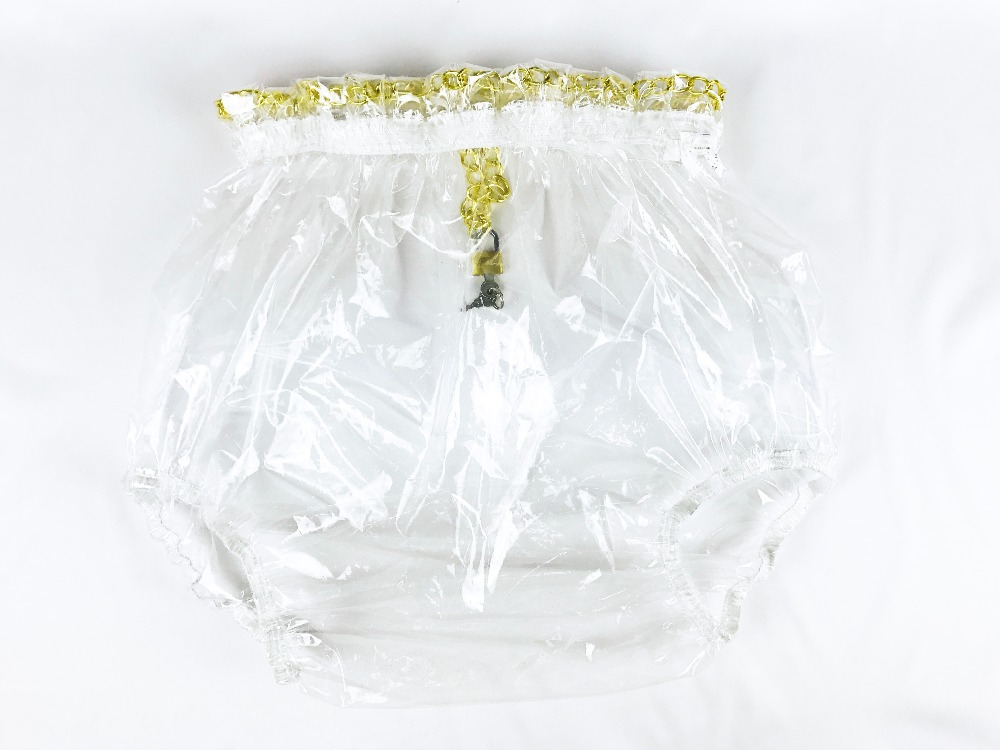 2 pcs*Haian ABDL Pull-On Locking Plastic Pants Color Glass Clear  # P016-9 inc international concepts plus size bootcut pull on ponte knit pants