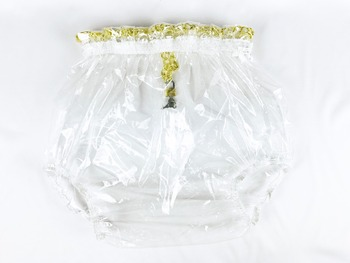 2 pcs*Haian ABDL Pull-On Locking Plastic Pants Color Glass Clear  # P016-9