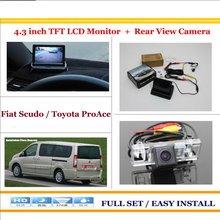 """Cámara Trasera de Respaldo del Revés del coche + 4.3 """"TFT LCD Monitor de la Pantalla = 2 en 1 Sistema Del Estacionamiento Del Rearview Para Fiat Scudo/Para Toyota ProAce"""