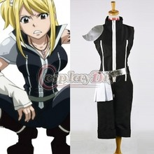 Custom Made Women s Costume Fairy Tail Lucy Heartfilia Black Suit Outfit Costume Cosplay for Carnival