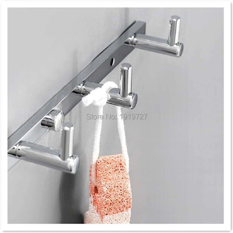 Factory Promotions Bathroom Accessories Full Copper Modern Wall Mounted Brass Towel Hook Coat Rack With 3 Clothes Hook Hanger wall mounted 5 hook rack