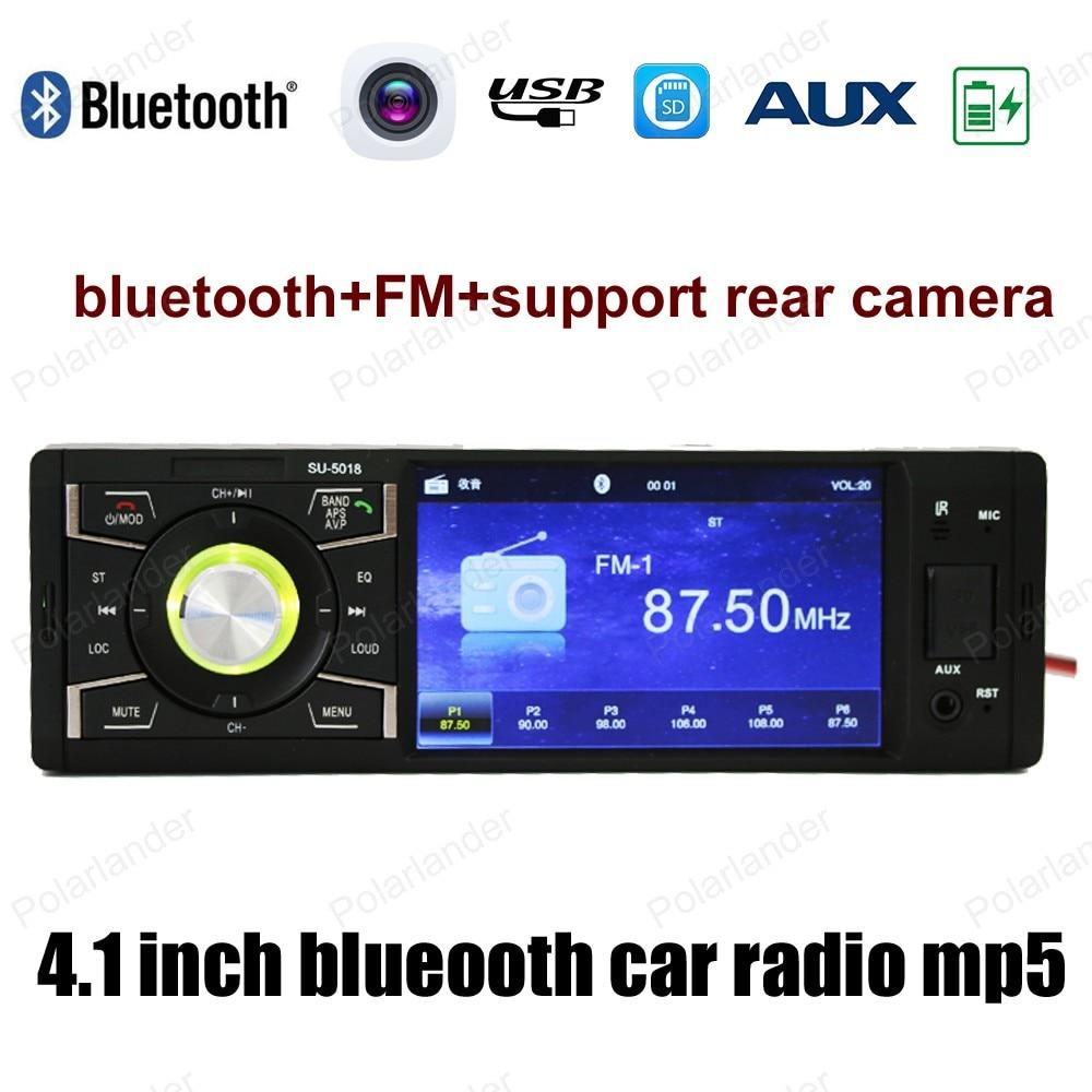 4 pouces HD écran 1din autoradio stéréo MP4 MP5 Support Bluetooth/FM USB/SD AUX in/arrière caméra vidéo lecteur