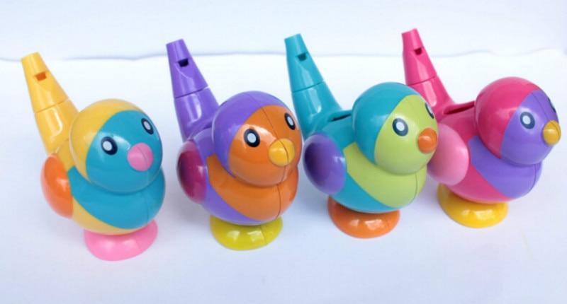 1 Stück Mini Niedlichen Vogel Wasser Pfeifen Babywanne Sammlung Bad Spielzeug Geschenk Modernes Design