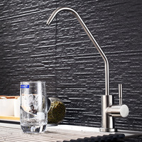 Single Handle Drinking Water Kitchen Faucet, Filtered Water Faucet RO Beverage Faucet, Lead Free Water Spigot,Brushed