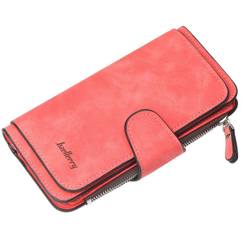 Fashion Women Wallets Long Wallet Female Purse Pu Leather Wallets Big Capacity Ladies Coin Purses Phone Clutch WWS046-1