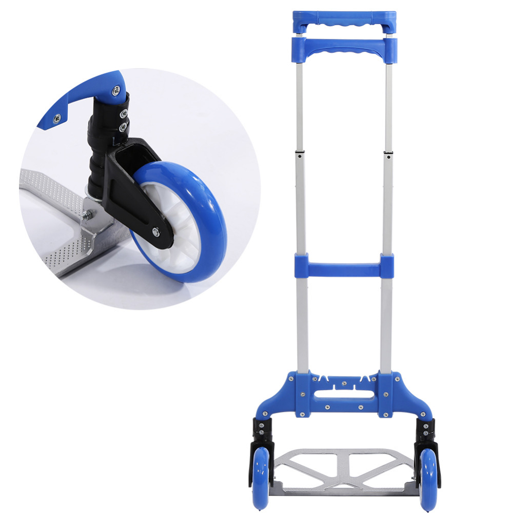 Tragbare Aluminium Warenkorb Klapp Dolly Push Lkw Hand Faltbare Trolley Gepäck Möbel Kommerziellen Möbel