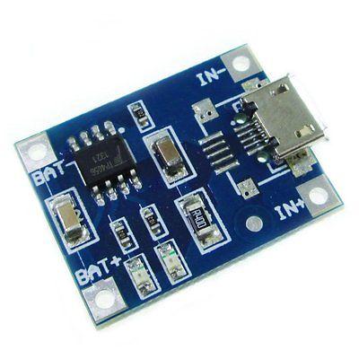 5PCS <font><b>15V</b></font> Micro USB 1A 18650 Lithium <font><b>Battery</b></font> Charging Board <font><b>Charger</b></font> Module