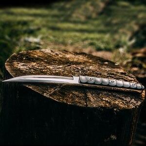 Image 5 - Balde fixo de baioneta tática militar, faca de sobrevivência karambit para caça ao ar livre, acampamento selvagem, facas bowie + bainha de couro