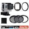 Gopro Accesorios kit de Buceo 52mm Polarizador Circular CPL Filtro protector 3 unids/set UV ND4 Filtors de Buceo en el agua Para Go Pro 4 3 +
