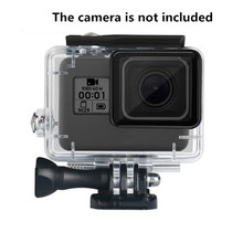 Universal Waterproof case for Gopro hero7 Black 6 5 camera High transparency acrylic body tempered glass lens