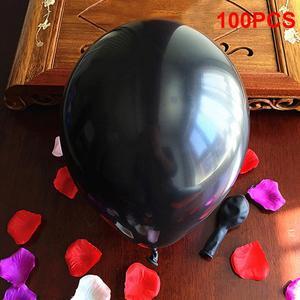 Image 4 - 100 Uds., negro, 1,5g, 10 pulgadas, grueso, perlado, brillo, fiesta de boda, cumpleaños, globos redondos