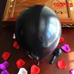 Image 4 - 100pcs שחור 1.5g 10 inchThickening פרל זוהר מסיבת חתונת יום הולדת בלונים עגולים