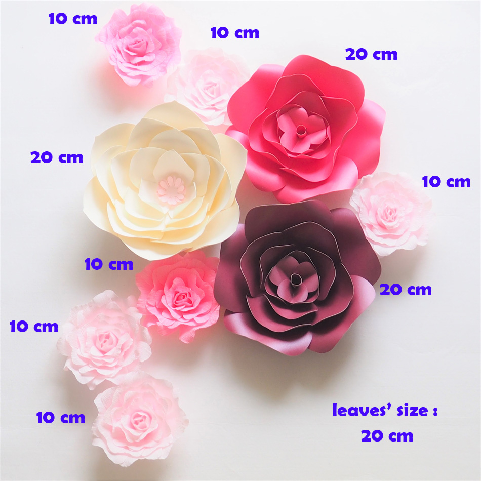 Giant Paper Flowers Wedding: Giant Paper Flowers Backdrop Artificial Handmade Crepe