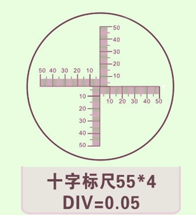 Microscoop Oculair Micrometer Kalibratie Slide Met Cross Schaal