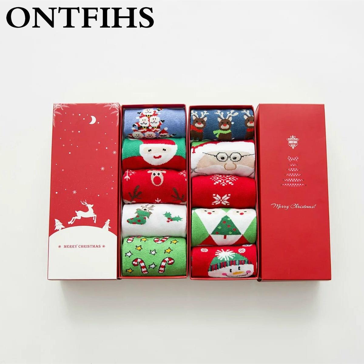ᗛ5 пар Для женщин носки Рождественский подарок модная ...