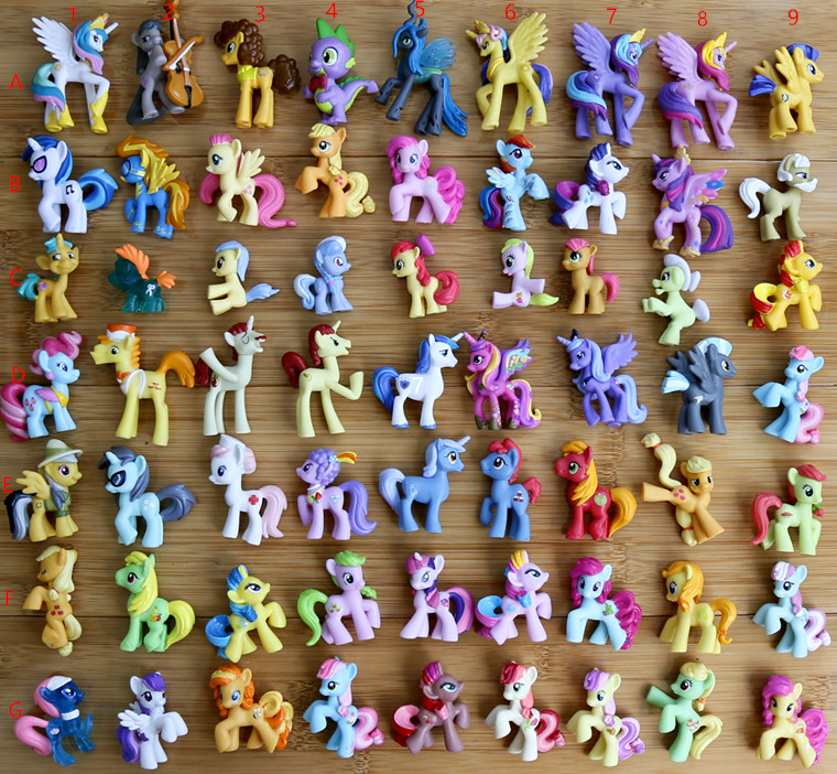 Girls Figure toys princess cadance luna celestia nightmare moon queen chrysalis Flurry Heart Anime Little Horse baby gifts