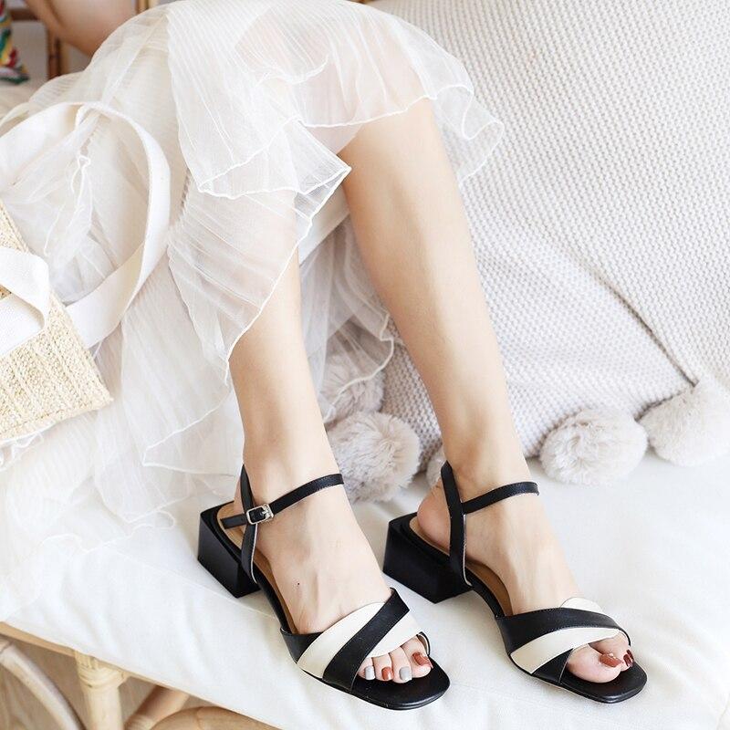 Salu Haute 5 Loisirs Talon En Qualité Chaussures D'été Cuir Cm Femmes Noir Couleur Sandales Noir jaune Jaune Sur Véritable De rrafqR