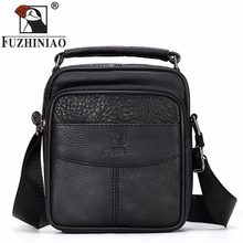 FUZHINIAO Messenger Bag Men 100% Genuine Leather Small Cowskin Male Bags Vintage Men's Business Cowhide Shoulder Crossbody Bag(China)