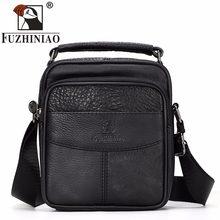 f4d136070f66 FUZHINIAO сумка для мужчин 100% пояса из натуральной кожи Малый воловьей мужской  сумки Винтаж коровьей