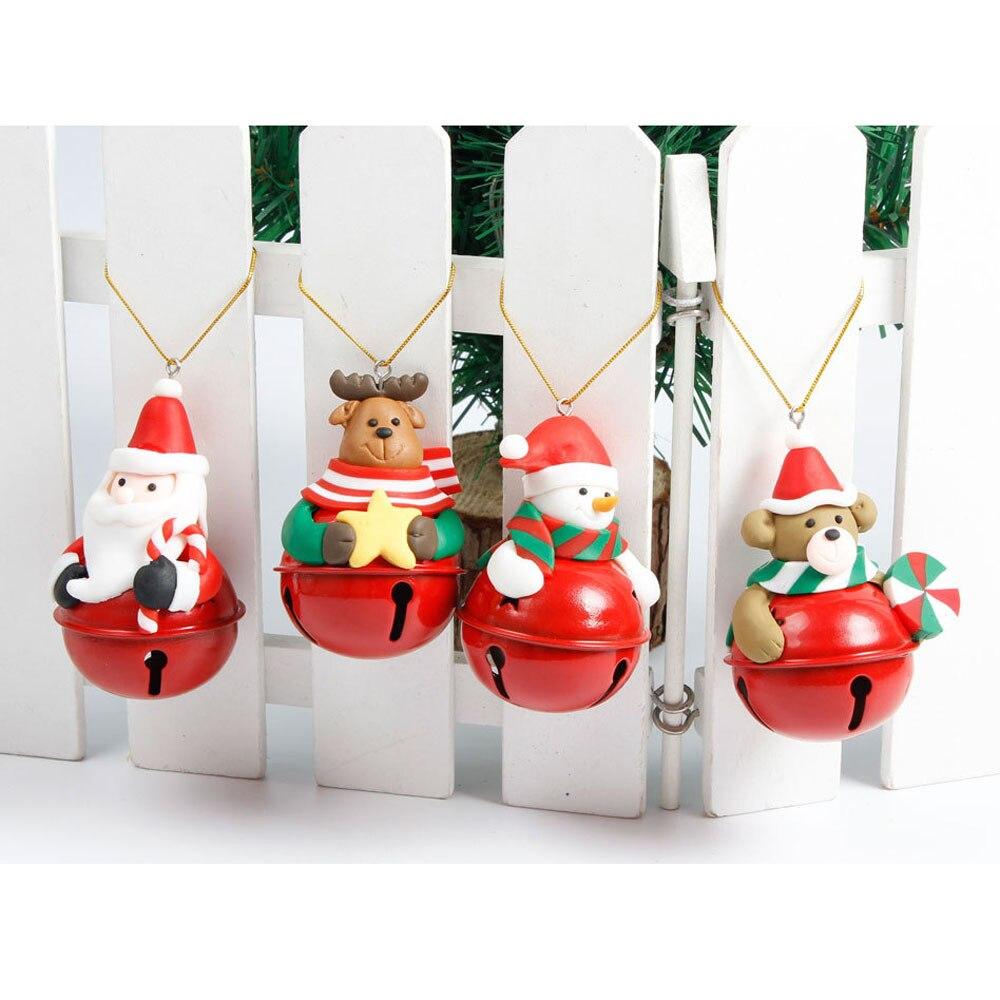 Decorador de arboles de navidad 187 home design 2017 - 2017 Nuevo 1 Unids De Santa Colgante Rbol De Navidad Colgando Adornos Con Cascabeles Navidad Fuentes