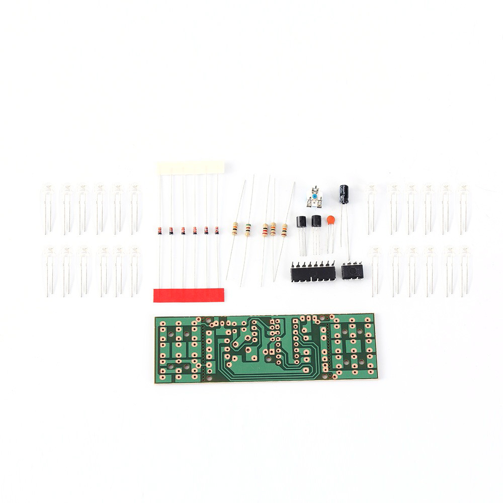 Image 2 - Electronic DIY Kit Red Blue Double Color Flashing Lights  Strobe NE555 + CD4017 Electronic Practice Learning Kits Suite-in Integrated Circuits from Electronic Components & Supplies