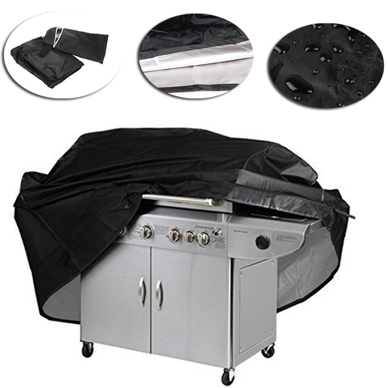 New Arrival Black Waterproof BBQ Cover BBQ Accessories Grill Cover Anti Dust Rain Gas Charcoal Electric Barbeque Grill 4 Sizes 1