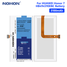 NOHON Replacement Battery Cell Lithium Li-ion Battery 3.8V 3100mAh For Huawei Honor 7 PLK-TL01H/PLK-AL10/PLK-UL00/PLK-CL00 black 100% new full lcd display touch screen digitizer assembly for huawei ascend honor 7 plk tl01h plk ul00 free shipping