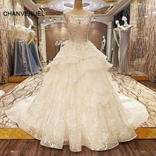 LS74226 special wedding dresses lace ball gown corset back wedding gowns 2017 robe de mariage real photos