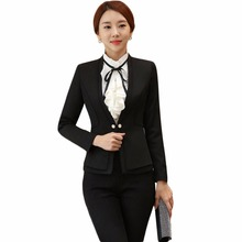 Women feminino business trouser suits office uniform designs blazer with trousers grey formal elegant pant suit for work S-4XL