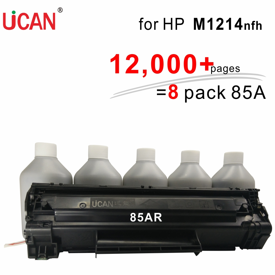 UCAN CTSC(kit) 85A for Hp Prime laesrJet Pro M1214nfh MFP Laser Printer Toner Cartridge  12000 pages for hp 283 cf283a toner powder and chip for hp laserjet pro mfp m125 m127fn m127fw laser printer free shipping hot sale