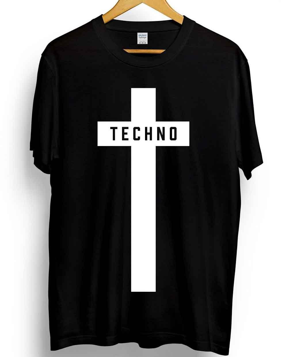 Techno Cross Printed T-Shirt