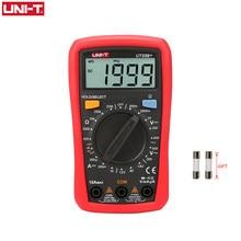 Mini multímetro digital ut33b +, multímetro digital ac dc voltímetro e amperímetro de 2000 contagens, medidor de bateria, testador de resistência ohm