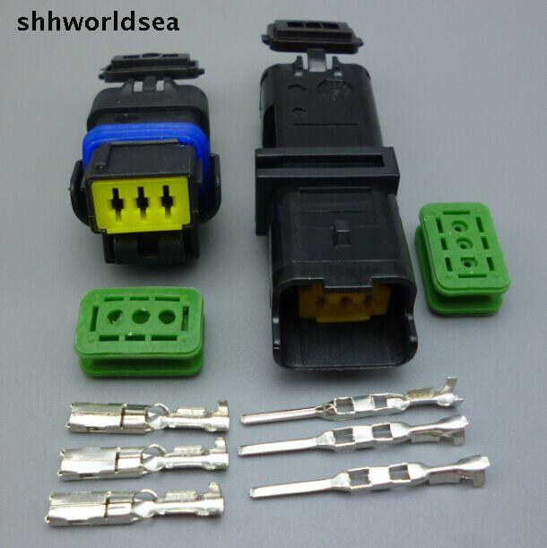 shhworldsea 4 10 100 3 Pin auto connector FO Turn light Plug FO font b lamp