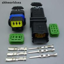 Shhworldsea 4/10/100 3 Булавки авто разъем FO Включите свет, FO лампы гнездо автомобильного Сенсор герметичный разъем для Peugeot Citroen