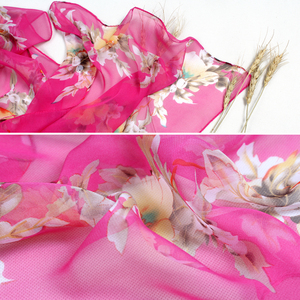Image 5 - צעיף אישה מוסלמי חיג אב משי נשי קיץ הדפסת פרחי משי תחושה פוליאסטר צעיף אביב ובסתיו נשים צעיפי FZ055