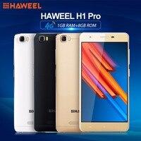 HAWEEL H1 프로 1 기가바이트 + 8 기가바이트 스마트 폰 4 그램 LTE 5.0 인치 안드로이드 6.0 MTK6735 쿼드 코어 1.2 천헤르쯔