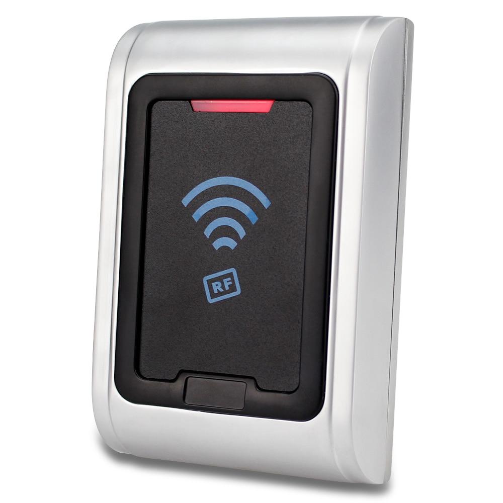IP65 Waterproof Metal RFID card reader EM ID smart reader for access control system 125KHz proximity with LED light smart rfid access control system proximity waterproof em id wiegand card reader