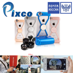 Shipping From Russia Pixco camera lens Kit Phone case Selfie Stick Handheld Stable Phone Remote Shut For I6 Bule Grey Gold Pink
