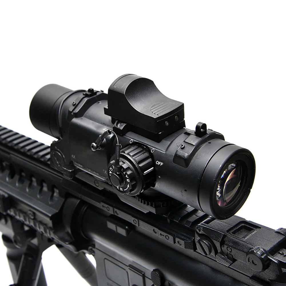 Tactical 1-4x Rifle Scope Riflescope DR Quick Detachable 1X-4X Adjustable Dual Role Sight Airsoft Scope Magnificate For Hunting