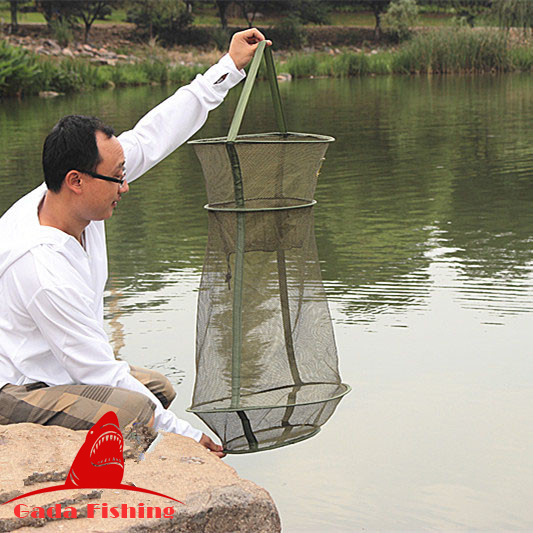 Hot sale 4size 3 layer portable fishing net fish shrimp for Fishing net for sale